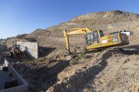 Realizaron un aterrazamiento en la parte alta de Castelli para evitar desmoronamientos