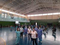 El Área externa del Hospital Regional aplicó 180 vacunas en la jornada del sábado en el Máximo Abásolo