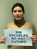 """Ana Clara Romero: """"Sin escuelas no hay futuro"""""""