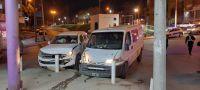 Un hombre resultó lesionado tras un accidente en avenida Rivadavia