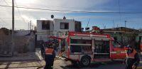 Trelew: Se desató un incendio en el primer piso de una vivienda