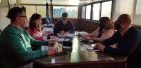 Perata y Aguilera evaluaron las obras de infraestructura escolar en ejecución
