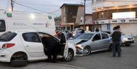Fuerte choque en barrio Pueyrredón terminó con una persona trasladada al hospital
