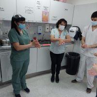 Desde el Hospital Alvear concientizaron sobre la importancia del Día Mundial del Lavado de Manos