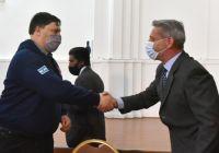 Arcioni rubricó un convenio para la realización de un Sistema de Alerta Temprana de Incendios de Pastizales Naturales